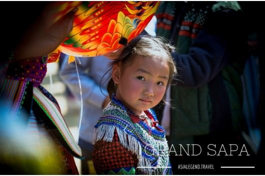 Black Hmong Girl in Sapa